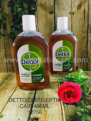 Antiseptik Dettol cair Anti Bakteri 495 ml